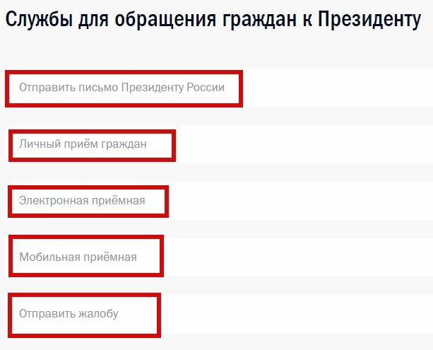 Горячая линия президента Путина